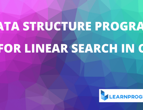 Linear Search in C | Linear Search Program in C