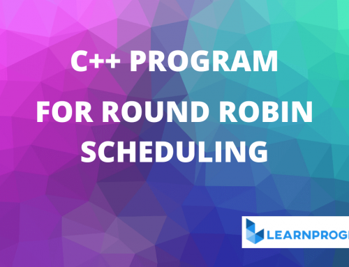 Round Robin Scheduling Program in C++