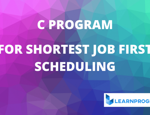 Shortest Job First Program in C (SJF Scheduling)