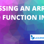 Passing an Array to a Function in C