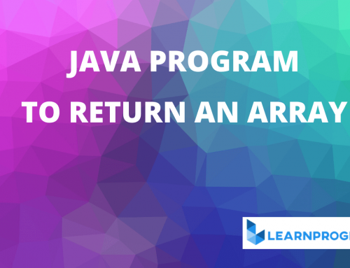 How to Return an Array in Java [ With Explanation ]