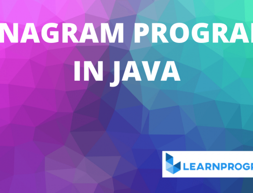 Anagram Program in Java | String Anagram Program in Java