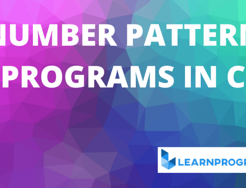 20 Different Number Pattern Programs in C