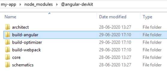 could not find module @angular-devkit/build-angular/package.json